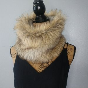 American Eagle Faux Fur Snow Lined Infinity Scarf